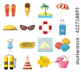 travel icons set | Shutterstock . vector #422718895