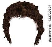 trendy man hairs  fringe .... | Shutterstock .eps vector #422720929