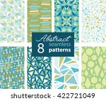 set of 8 vector abstract shapes ... | Shutterstock .eps vector #422721049