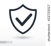 quality is confirmed flat icon. ... | Shutterstock .eps vector #422723317