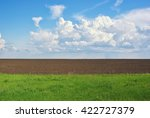 cultivated green field. rural... | Shutterstock . vector #422727379