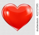 red heart symbol  isolated on... | Shutterstock .eps vector #422727595