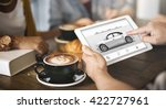 car rental salesman automobile... | Shutterstock . vector #422727961