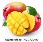 mango with section on a white... | Shutterstock . vector #42272995