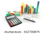 calculate. 3d illustration of... | Shutterstock . vector #422730874