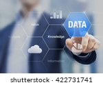 concept about the value of data ... | Shutterstock . vector #422731741