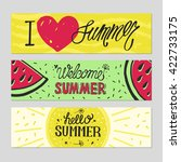 vector bright summer cards.... | Shutterstock .eps vector #422733175