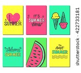 vector bright summer cards.... | Shutterstock .eps vector #422733181