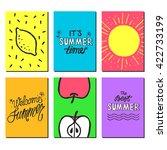 vector bright summer cards.... | Shutterstock .eps vector #422733199