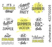 vector bright summer hand... | Shutterstock .eps vector #422733205