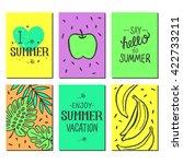 vector bright summer cards.... | Shutterstock .eps vector #422733211