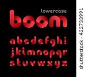 rounded font. vector alphabet... | Shutterstock .eps vector #422733991