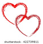 couple of red vector hearts for ... | Shutterstock .eps vector #422739811
