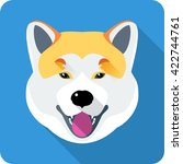 dog akita inu japanese breed... | Shutterstock . vector #422744761