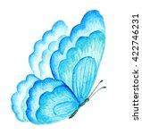 blue summer butterfly.... | Shutterstock . vector #422746231