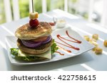 home made potato patties... | Shutterstock . vector #422758615