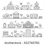 city landscapes set in linear... | Shutterstock . vector #422760781