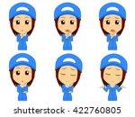 work clothes woman set | Shutterstock .eps vector #422760805