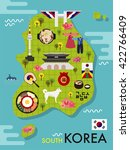 south korea vector object... | Shutterstock .eps vector #422766409