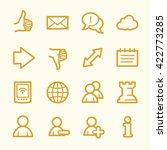 social media web icons | Shutterstock .eps vector #422773285