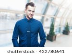 handsome stylish young man in... | Shutterstock . vector #422780641