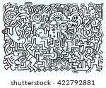dancing party pattern with... | Shutterstock .eps vector #422792881