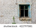 Window Of Ruined Brick House...