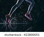 athletes foot close up. healthy ... | Shutterstock . vector #422800051