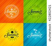set of summer emblems. hand... | Shutterstock .eps vector #422802421