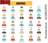 flat thin line icons collection ...   Shutterstock .eps vector #422802595