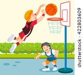 a vector illustration of kids... | Shutterstock .eps vector #422803609