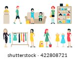 vector shopping and shipping... | Shutterstock .eps vector #422808721