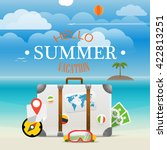 summer seaside vacation... | Shutterstock .eps vector #422813251