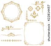 vintage set. floral elements... | Shutterstock . vector #422814457