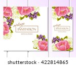 romantic invitation. wedding ... | Shutterstock . vector #422814865