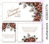 romantic invitation. wedding ...   Shutterstock . vector #422815774