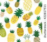 ananas background  seamless... | Shutterstock .eps vector #422817511
