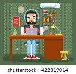 stock vector illustration of... | Shutterstock .eps vector #422819014
