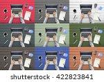 working workplace workspace... | Shutterstock . vector #422823841