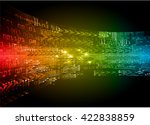 red yellow green blue arrow... | Shutterstock .eps vector #422838859