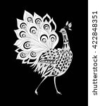 peacock ornamental hand drawn.... | Shutterstock .eps vector #422848351