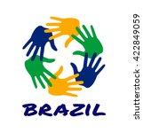 Colorful Six Hand Print Logo...