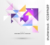 geometric vector background.... | Shutterstock .eps vector #422849689