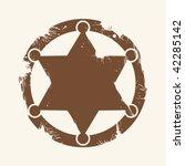 Sheriff's badge clip art | Public domain vectors