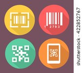 bar and qr code icons. scan... | Shutterstock . vector #422852767