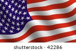 detail of waving stars and... | Shutterstock . vector #42286