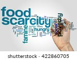 food scarcity concept word... | Shutterstock . vector #422860705