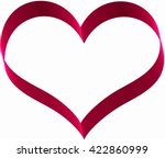 red ribbon in heart shape on... | Shutterstock . vector #422860999