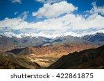 mountain tops in clouds | Shutterstock . vector #422861875