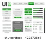 vector ui kit | Shutterstock .eps vector #422873869